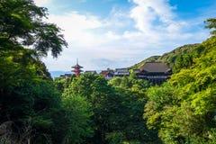 Kiyomizu-dera temple and pagoda, Kyoto, Japan. Kiyomizu-dera temple and pagoda, Gion, Kyoto, Japan Royalty Free Stock Photography