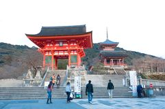 At Kiyomizu-dera Temple Stock Image