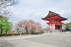 Kiyomizu Dera wood temple in spring, World Heritage site Kyoto, Stock Photos