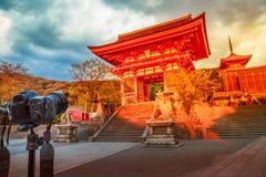 Kiyomizu-dera zmierzch Kyoto Zdjęcie Royalty Free