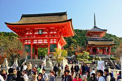 Kiyomizu-deratempel Lizenzfreie Stockfotos