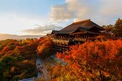 Kiyomizu-Deratempel in Kyoto royalty-vrije stock afbeeldingen