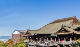 Kiyomizu-deratempel Kyoto, Japan Stockfotos