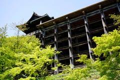 Kiyomizu-Deratempel in Kyoto Japan Royalty-vrije Stock Foto