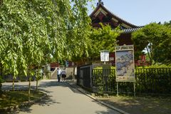 Kiyomizu kannon-doet Tempel bij Ueno-Park De tempelzaal is geclassificeerd als Belangrijk Cultureel Bezit stock afbeeldingen