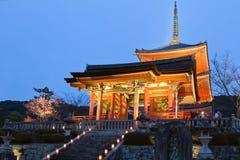 Kiyomizu tempel Fotografering för Bildbyråer