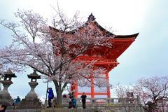 Kiyomizu tempel, Japan Arkivfoto