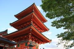 Kiyomizu tempel, Kyoto, Japan fotografering för bildbyråer