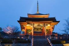 Kiyomizu tempel, Kyoto, Japan Arkivbilder