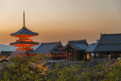 Kiyomizu Temple in Kyoto Japan. Royalty Free Stock Images