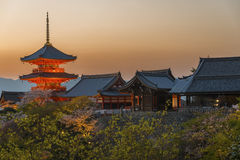Kiyomizu Temple in Kyoto, Japan. Royalty Free Stock Photos
