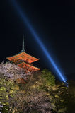 Kiyomizu Temple in Kyoto Japan. Stock Photos