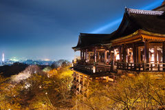 Kiyomizu temple overlook kyoto city. Kiyomizu temple is part of the historic monuments of ancient kyoto UNESCO world heritage site. Kiyomizu temple is the best Royalty Free Stock Photography