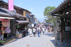 Famous Kiyomizu street Kyoto Japan  Royalty Free Stock Images