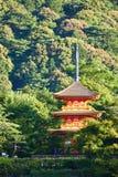 Kiyomizudera寺庙在日本 免版税库存图片