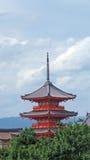 Kiyomizudera寺庙Pagode在京都 免版税库存图片