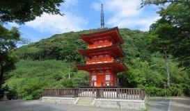 Kiyomizudera寺庙Pagode在京都 免版税库存照片