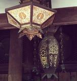 Kiyomizudera świątyni lampiony obraz royalty free