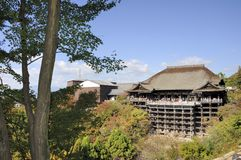 Kiyomizudera świątynia Hondo Fotografia Royalty Free