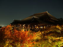 Kiyomizudera. Temple in Kyoto during Autumn, which is one of the UNESCO World Heritage sites Stock Photos