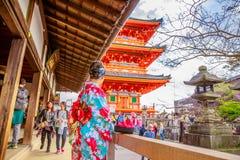 Kiyomizudera Kyoto Japão Fotos de Stock
