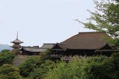 Kiyomizudera o templo puro del agua en Kyoto Foto de archivo libre de regalías