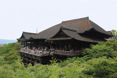 Kiyomizudera or Pure Water Temple in Kyoto Stock Image