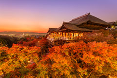 Kiyomizudera Shrine in Kyoto Royalty Free Stock Photos