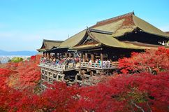 Kiyomizudera-Tempel lizenzfreie stockbilder