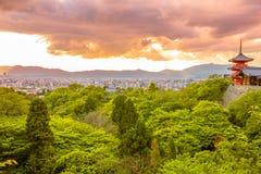 Kiyomizudera Temple aerial Royalty Free Stock Images