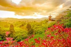 Kiyomizudera Temple aerial view Stock Photos