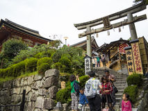 Kiyomizudera Temple entrance, Kyoto Stock Photo
