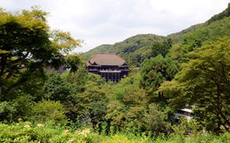 Kiyomizudera temple, Kyoto, Japan. Royalty Free Stock Photography