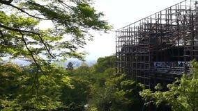 Kiyomizudera temple on major renovation stock video