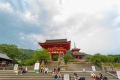 Kiyomizudera Temple Red Gate Ro-Mon Entrance Stock Photo