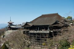 Kiyomizudera van Kyoto Royalty-vrije Stock Foto's