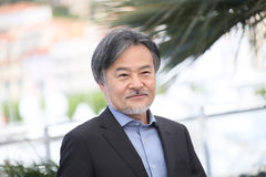 Kiyoshi Kurosawa attends the `Before We Vanish Sanpo Suru Shinr. Yakusha` photocall during the 70th annual Cannes Film Festival at Palais des Festivals on May 21 royalty free stock photos