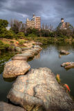 Kiyosumi庭院在东京 免版税库存图片