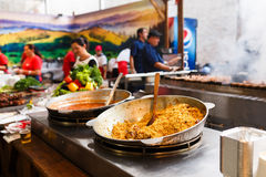Kiyv街道食物节日 免版税图库摄影