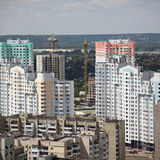 Kiyv, Ukraine, aerial view. On city Stock Photo
