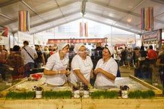 Kiyv uliczny karmowy festiwal Zdjęcia Stock