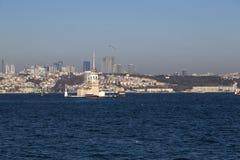 Kiz Kulesi,少女` s塔,伊斯坦布尔 库存图片
