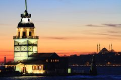 Kiz Kulesi, Κωνσταντινούπολη Στοκ Εικόνα