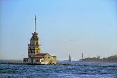 Kiz Kulesi, Istambul imagem de stock