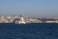 Kiz Kulesi, jungfru- torn för ` s, Istanbul Arkivbilder
