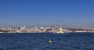 Kiz Kulesi, jungfru- torn för ` s, Istanbul Arkivfoton