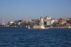 Kiz Kulesi, jungfru- torn för ` s, Istanbul Royaltyfria Bilder