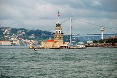 Kiz Kulesi. The Maiden's Tower, also known as Leander's Tower in Istanbul, Turkey Stock Photo