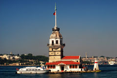 Kiz Kulesi. The Maiden's Tower, also known as Leander's Tower in Istanbul, Turkey Royalty Free Stock Image