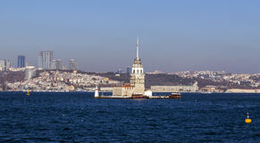 Kiz Kulesi, Maiden`s Tower, Istanbul Royalty Free Stock Photo